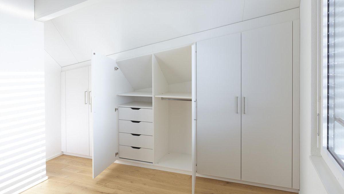 einbau kleiderschr nke mit schiebet ren schlafzimmer luca pinie wei set komplett 4 tlg. Black Bedroom Furniture Sets. Home Design Ideas